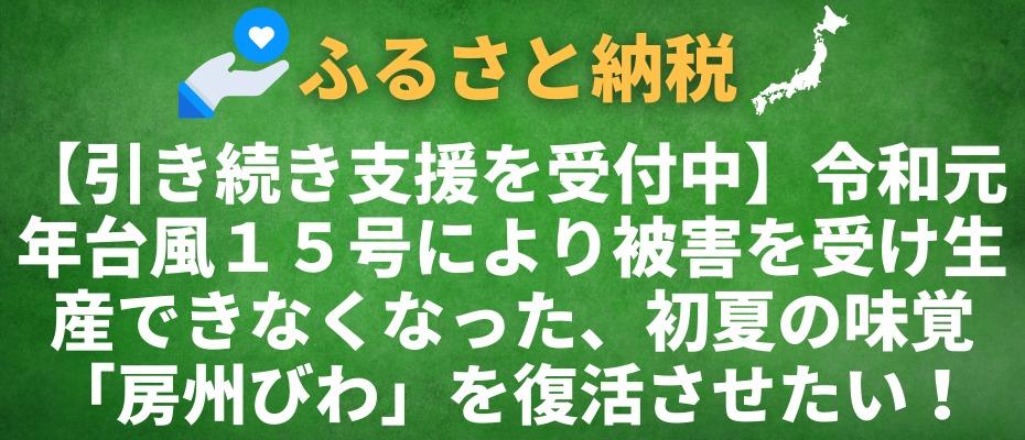 【引き続き支援を受付中】令和元年台風15号により被害を受け生産できなくなった、初夏の味覚「房州びわ」を復活させたい!